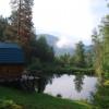 Лесная дача   лыжный подъемник   озеро   предгорья Алтая