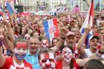 Теплый прием сборной Хорватии на родине