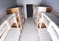 ХОСТЕЛ ВОЗДУХ (г. Владимир, исторический центр) Кровать в общем номере c 8 кроватями и общей ванной комнатой