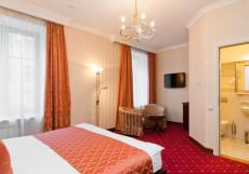 Традиция  | м. Спортивная | Wi-Fi Двухместный номер Делюкс с 1 кроватью или 2 отдельными кроватями