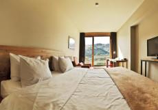 Rooms Hotel Kazbegi   Румс Готель   Казбеги   река Терек   конференц-зал   Стандартный номер с кроватью размера «king-size» и видом на лес