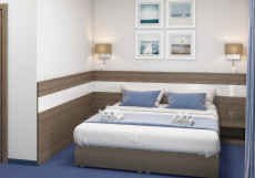 Парк-отель и пансионат «Песочная Бухта»(г. Севастополь, центр, 1-линия) Стандартный двухместный с одной двуспальной кроватью или двумя отдельными кроватями (Одисей)