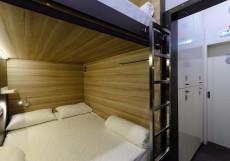 CAPSULA - КАПСУЛА Капсульный отель | м. Таганская, Марксистская | Парковка Двуспальная кровать в общем номере