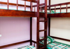 Вежливый лось (Общежитие)  Спальное место на двухъярусной кровати в девятиместном общем номере для мужчин
