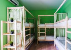 БРО Хостел | м. Красные ворота | Парковка Спальное место на двухъярусной кровати в общем 6-местном номере (мужской/женский)