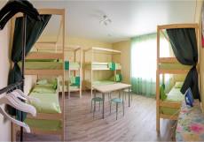 Nice hostel | г. Челябинск | Парковка Спальное место на двухъярусной кровати в общем номере (мужской/женский/общий)