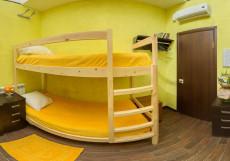 Абсолют | м. Алексеевская | Парковка Односпальная кровать в общем номере с 6 кроватями