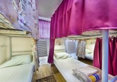 Travel на Маяковской | м. Баррикадная, м. Маяковская | Парковка  Кровать в общем 6-местном номере для мужчин и женщин