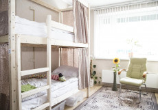 Грин Кузьминки | м. Кузьминки | Парковка Спальное место на двухъярусной кровати в общем номере для мужчин