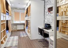 Хостел Квартира 31 Железнодорожный вокзал Кровать в общем четырехместном номере для женщин