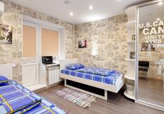 Хостел Квартира 31 Железнодорожный вокзал Двухместный номер с 2 отдельными кроватями и балконом