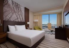 Дабл Три Хилтон Внуково - DoubleTree Hilton Vnukovo Номер Делюкс с кроватью размера «queen-size» и видом на парк/аэропорт