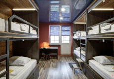 Bratislavskaya - Бюджетные Номера Нижнее спальное место на двухъярусной кровати в общем 6-местном номере для женщин