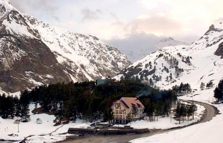 Pogostite.ru - Балкария | Поляна Азау | Парковка | Катание на лыжах #11